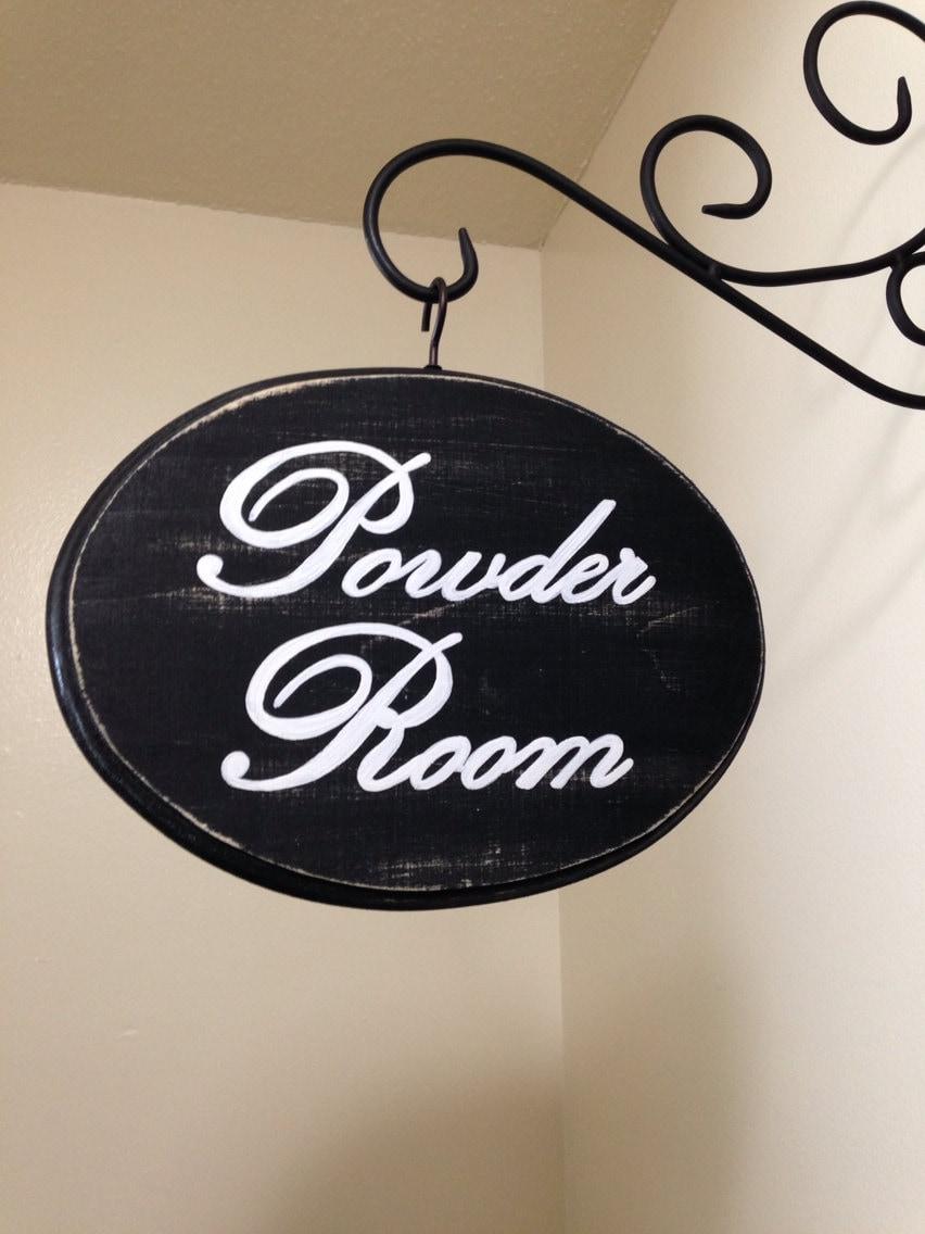 Adorable bathroom sign 7x9 black powder room for 7x9 bathroom designs