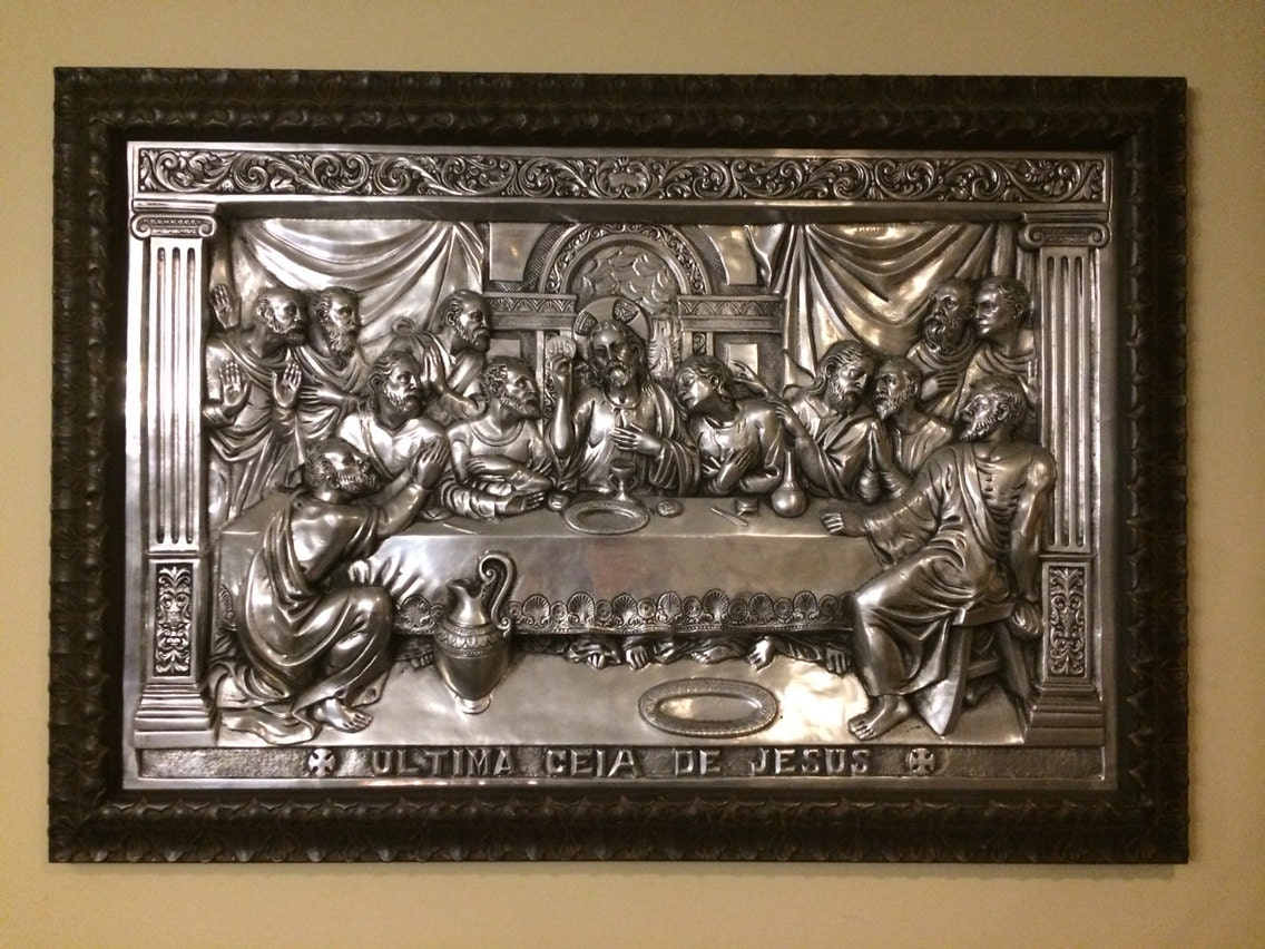 La Ultima Ciea De Jesus The Last Supper 1940s Tin Portuguese