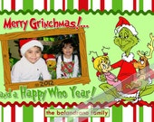 Christmas Greeting Card-Grinchmas (Digital File)