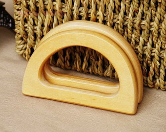 1pair Natural Wooden Handle,Wooden Purse Handle,Wooden Handbag Handle 200-412