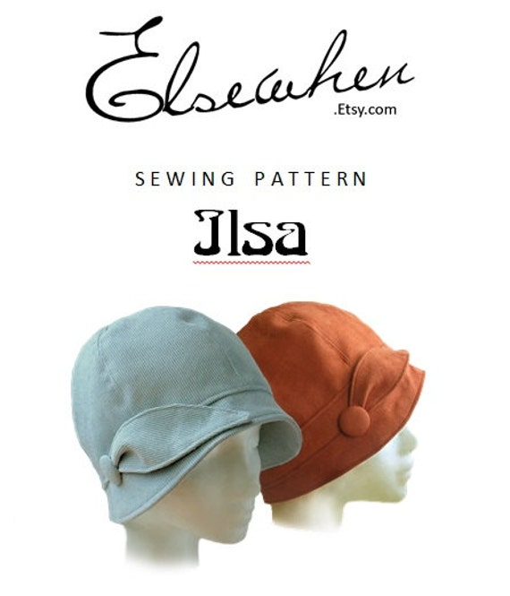 1920s Patterns – Vintage, Reproduction Sewing Patterns PATTERN - Ilsa 1920s Twenties Cloche Fabric Hat for Child or Adult $12.00 AT vintagedancer.com