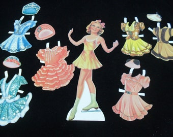 Vintage Paper Doll Set * Sonia Hennie Olympic Ice Skater and Movie Star