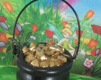 Pot o' Gold for Fairy Garden OOAK miniature handmade