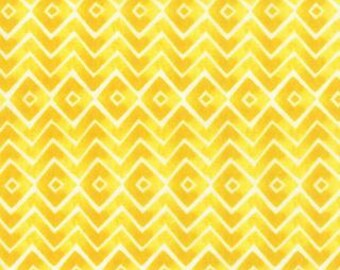 Fleurologie by Stephanie Ryan of Moda, Floral Geometric, Energy Yellow