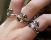 Bohemian Rings, Simple Ring, Silver Ring, Arrow Sterling Ring, Silver Ring, Gemstone Ring, Sterling Silver Gemstone Ring