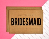 Will You Be My Bridesmaid and Maid Of Honor Cards - Wedding Stationery Cards