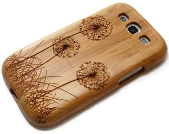 Samsung Galaxy S3  case - wooden S3 case walnut / cherry or bamboo -  Dandelion