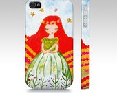 IPhone Case, Red Hair Girl IPhone case,Whimsical,  girl, Art Phone Case,,iPhone 4,5,6 and 4s Accessory