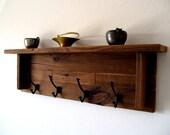 Reserved Listing for Debralee // Wall Hung Coat Rack / Hat Rack / Key Rack / Towel Rack Rustic / Reclaimed / Barn Wood