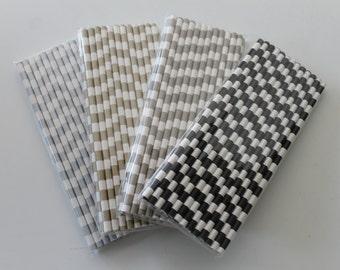 25 Horizontal Stripped Paper Straws / Paper Party Wedding Straws / Birthdays / Shower Decor / Wedding Supplies / Party Supplies