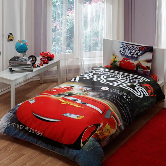 disney cars formula bedding set single by baharhometextile