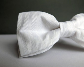 White Bow Tie for Men Wedding Bow Tie Mens White Bow Tie for Groom Groomsman Bow Tie Baptist Wedding Gift for Men Gift for Husband Christmas