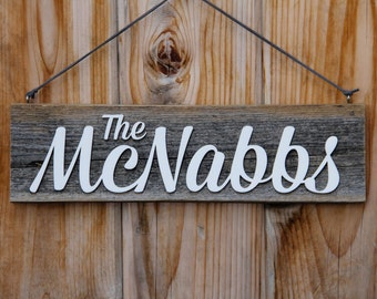 Personalized Hanging Rustic Barnwood Name Sign