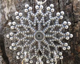 Gothic Rose Window Filigree Earrings