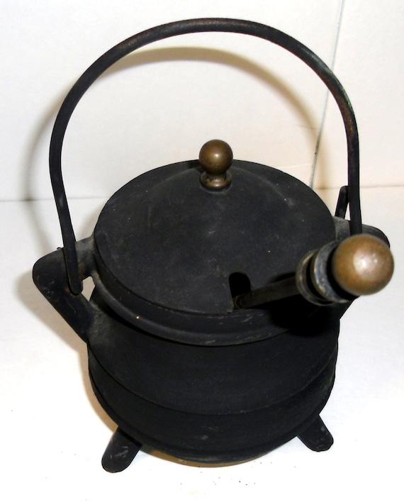 vintage cast iron starter pot antique smudge pot