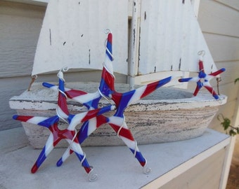 Americana Fused Glass Stars