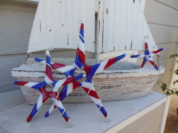 Americana Fused Glass Stars