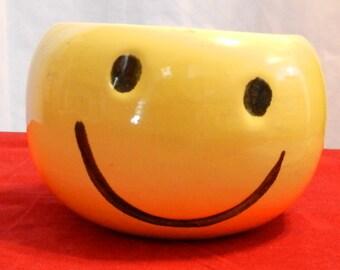 Vintage Haeger Smiley Face Bowl