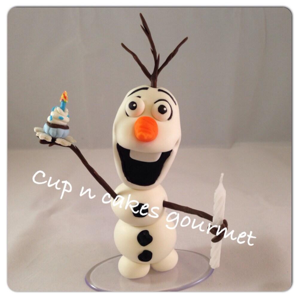 Cake Decoration Olaf : Olaf Candle / Cake Topper