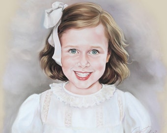 Pastel portrait painting