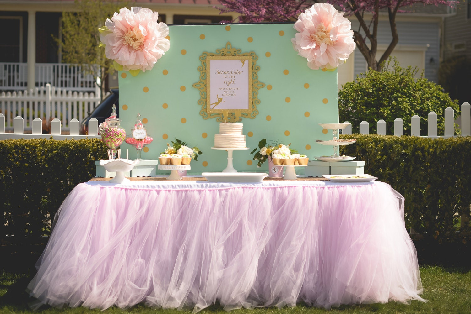 Buffet table skirting - Pale Pink Tutu Table Skirt