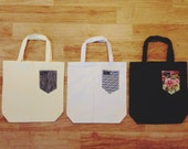 Make Your Own Paiges Pocket Canvas Tote Bag