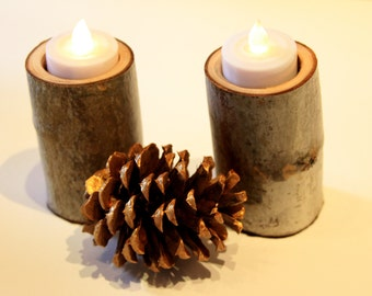 Hand Crafted Aspen Candle Holders