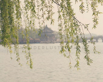 Summer Palace Beijing - Photographic Print - China, wanderlust,  travel, Art, Decor, willows, green, Photography, asia, asian,