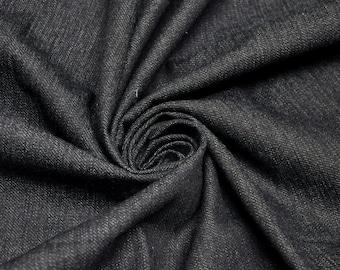 Solid Dark Wash Denim Fabric Dark Denim Fabric by the yard or wholesale denim - 1 Yard 6192