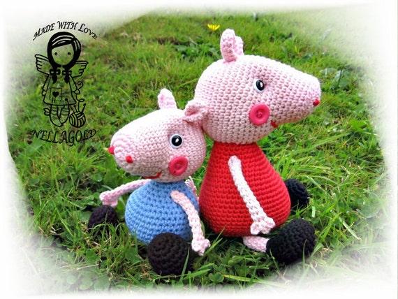 Crochet PATTERN Peppa Pig and George Pig 2in1 DIY Pattern