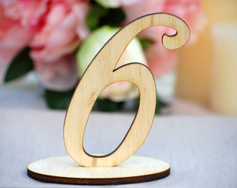 Wedding Table Numbers, Wood Table Numbers for Wedding Reception, Rustic Wedding, DIY Table Decoration