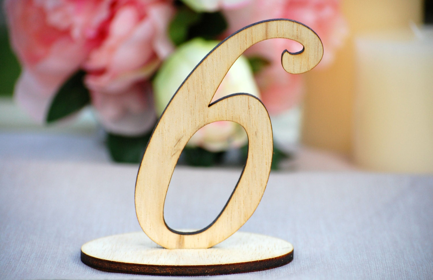 Wedding table numbers wood for
