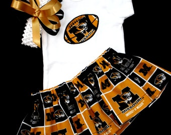 University of Missouri Girls 3 piece Bodysuit set