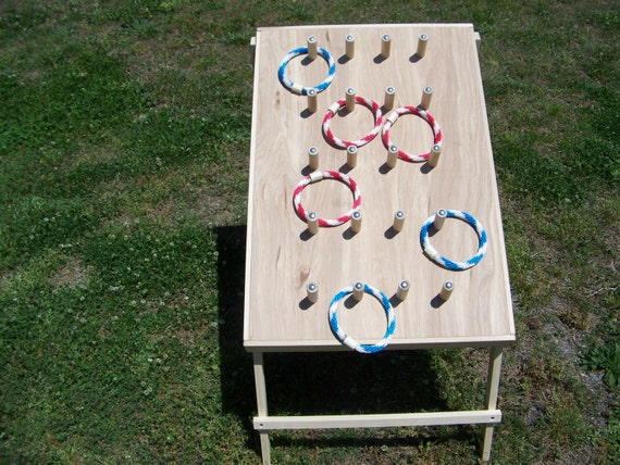 Ring Toss Game, fun for adults and children alike. Indoor/Outdoor. Think birthday, tailgating, parties, beach, home, carnivals, fairs, etc.