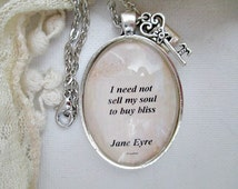 Charlotte Bronte quote necklace from Jane Eyre