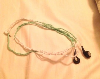 Mint and White Headphones