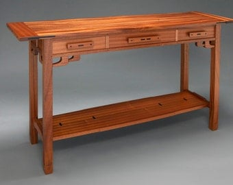 Three Drawer Greene And Greene Hall Entry Table