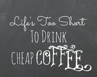 Coffee Chalkboard Printable