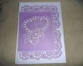 Parchment Card, suitable for Valentines, Engagement, Wedding Anniversary.