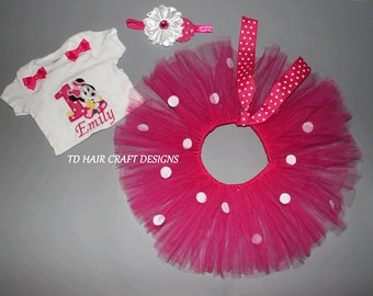 Minnie birthday tutu set