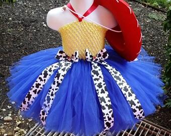 Jessie Tutu Dress With Hat - Toy Story Tutu Dress - Cowgirl Tutu Dress