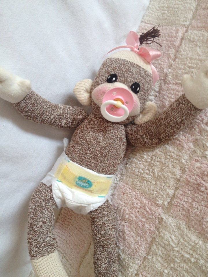 Made to order baby sock monkey