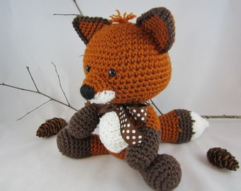 Crochet Stuffed Fox, Crochet Fox, Amigurumi Red Fox, Woodland Fox Plush by CROriginals