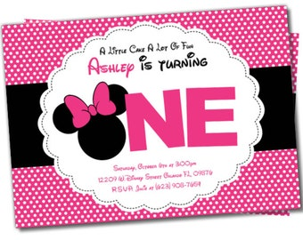 Minnie Mouse invitation, Minnie Mouse Party Package, Minnie Party, Minnie Mouse invite, Minnie Invitation, Minnie Mouse Party Package (M4)