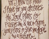 Wood Pallet Art - Bible verse Jeremiah 29:11