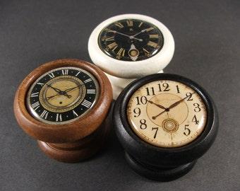 handmade clock face decorative door knobs pulls handles for cabinets and furniture - Decorative Door Knobs
