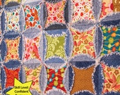 PDF DOWNLOAD- Denim Circle Rag Quilt pattern (use your Recycled Denim Jeans)