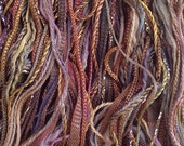 One Off, Hand Dyed Cotton and Viscose Thread Selection, Colour No.01 - Chocolate