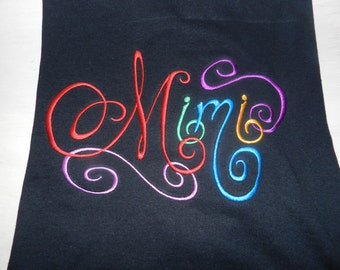 Colorful Mimi Monogrammed T-Shirt