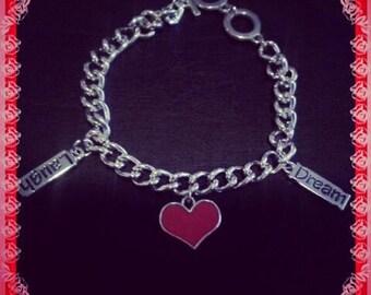 Charm Bracelet, Heart Bracelet, Dream bracelet,laugh bracelet